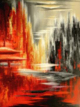 """acrylic on canvas, 48""""x36"""""""