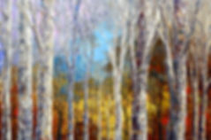 Time Tapestry, original fall winter landscape painting by Tatiana Iliina