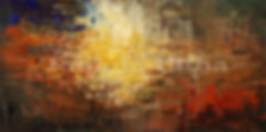 Times of an Ancient Sun, giclee on canvas, print of abstract painting by Tatiana iliina