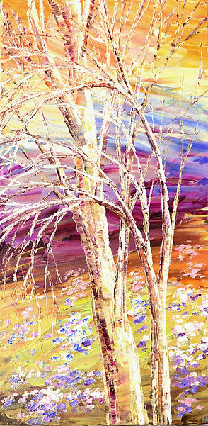 Shimmering Romance original landscape painting by Tatiana iliina for sale