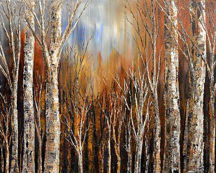 Winds of Autumn landscape painting by Tatiana iliina original fall colors landscape painting by Tatiana Iliina