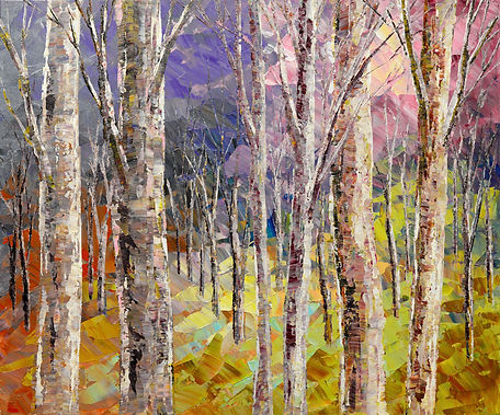 Cooler Minds Prevail, original fall landscape painting by Tatiana Iliina