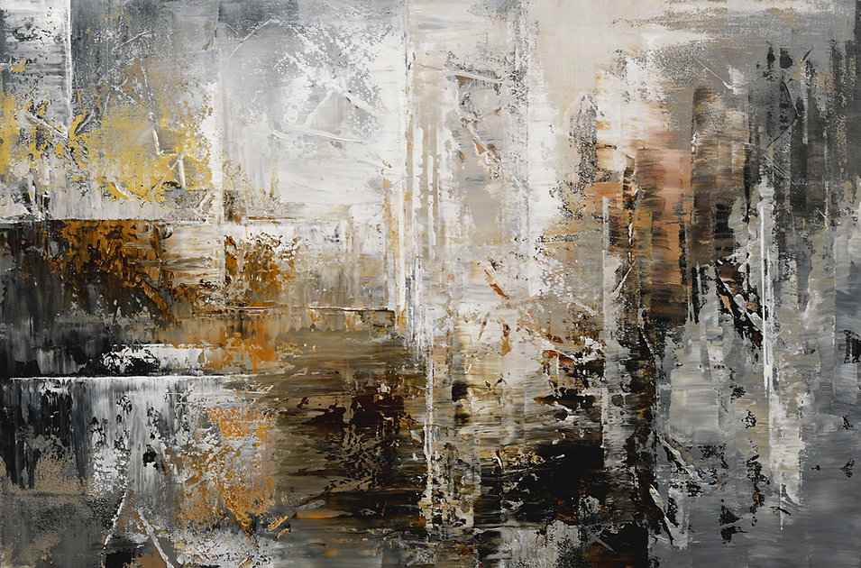 """Ancient Archives, original abstract painting by Tatiana Iliina, palette knife, acrylic on canvas, 24'x36"""""""