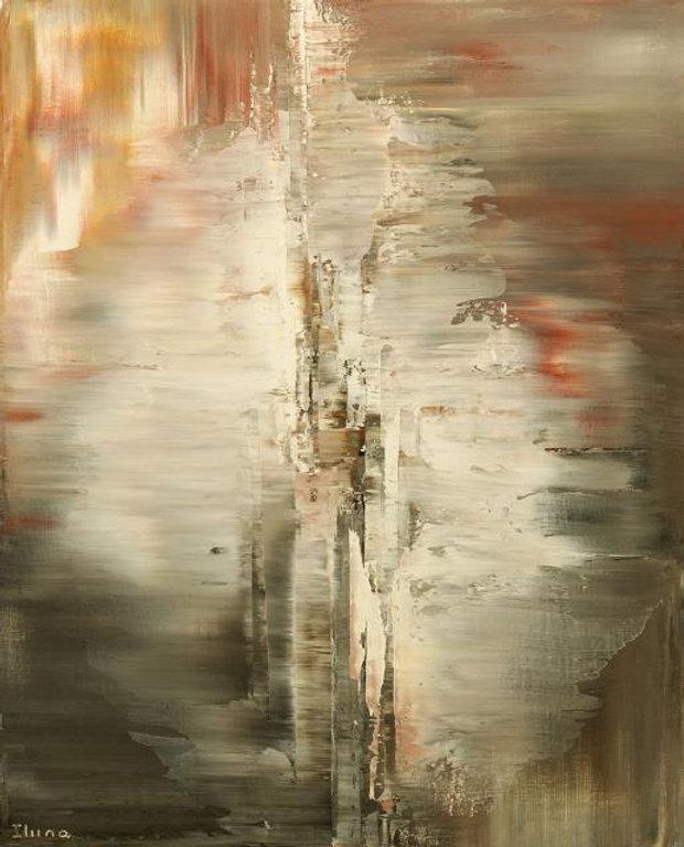 "original abstract painting by Tatiana Iliina, palette knife, acrylic on canvas, 16""x20"""
