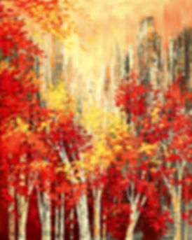 Park Place original fall landscape painting by Tatiana Iliina for sale