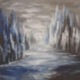 contemporary abstract landscape by Tatiana Iliina