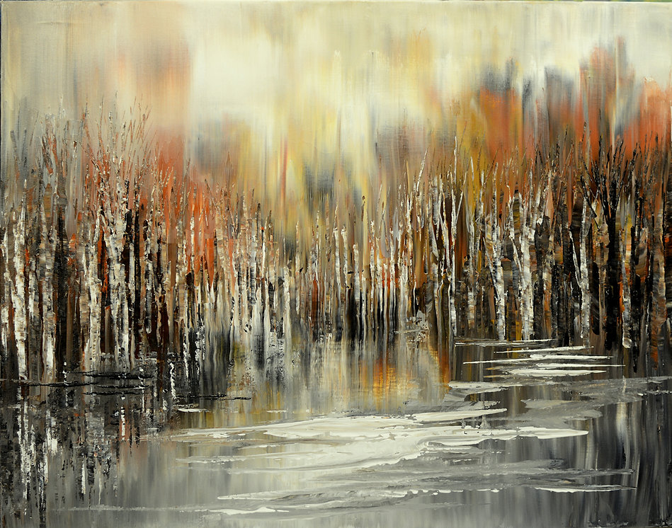 As a Dream, original fall landscape painting by Tatiana Iliina