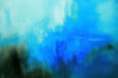 Bermuda Mystery original abstract painting by Tatiana Iliina, palette knife, acrylic on canvas