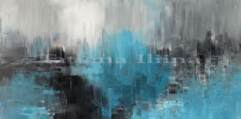 Brilliant Dreamer original abstract painting by Tatiana iliina