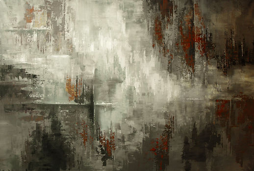 "large original abstract painting by Tatiana Iliina, palette knife, black and white, acrylic on canvas, 70""x45"""