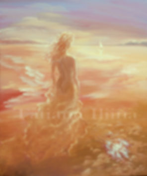 Daughter of the Sea, original figurative painting by Tatiana Iliina