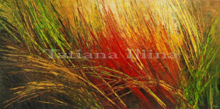 Savanna Sun by Tatiana iliina high end print for sale