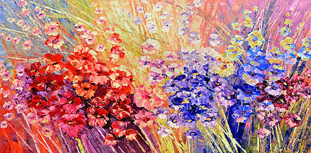 Glamor in the Heart, original contemporary palette knife flower painting by Tatiana iliina