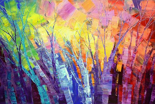 My Pagan Heart, original abstract landscape painting by Tatiana Iliina