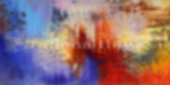 Golden Fleece large original abstract painting by Tatiana Iliina for sale