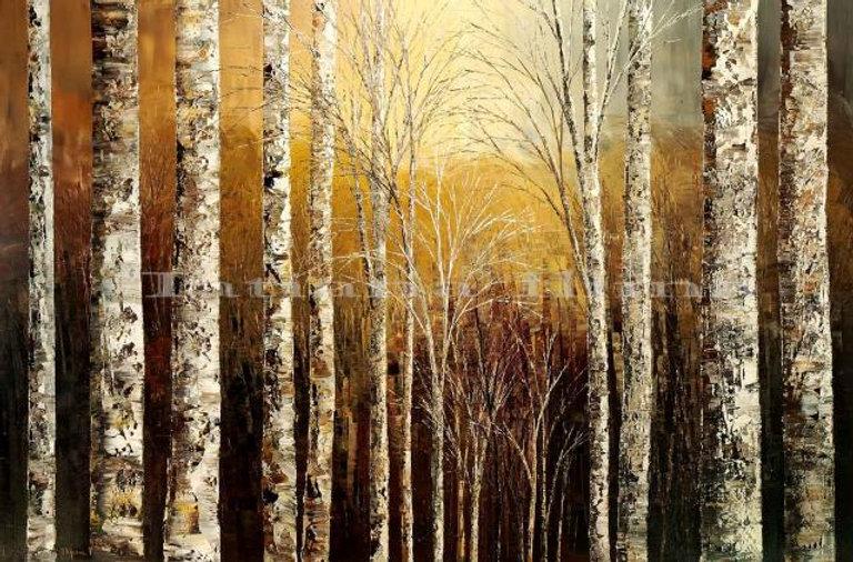 Historical Figures, landscape painting canvas print of original by Tatiana iliina