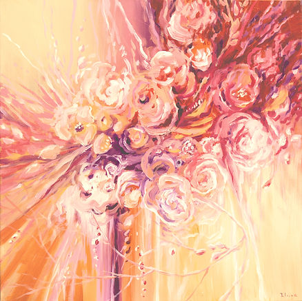 If Stars Were Flowers, original contemporary flower painting by Tatiana iliina