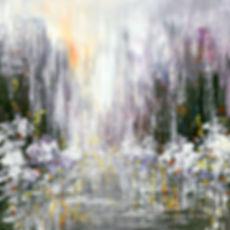 Luminosity, original contemporary winter cityscape palette knife painting by Tatiana Iliina