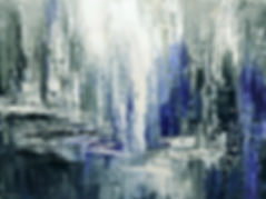 Icefield Crevasse, original abstract landscape painting by Tatiana Iliina, Glaciers Gone collection