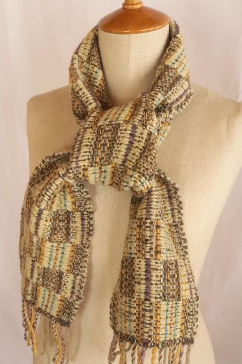 4寸手織りマフラー「マンサク街道」