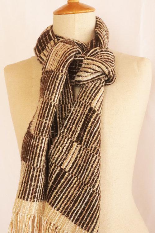 6寸手織りマフラー「バスク街道」