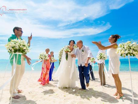 Свадебная церемония на пляже Самуи для Михаила и Нино