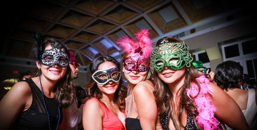 Four ladies with masks