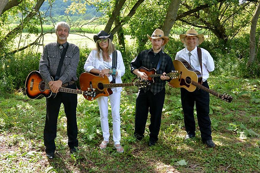 "The Bluebillies ~ Mark &Mel Guarino  *The Bluebillies don't just sing Country songs; they embody them, performing their unique blend of country, bluegrass and folk music with traditional style, sound and spirit. Husband and wife team Mark and Melody Guarino have been singing together since 1984 when they first made it their mission to help revive and preserve the rich heritage of the great and uniquely American art form of close-harmony country and bluegrass music in the style of the ""brother"" acts such as the Louvin Brothers, Everly Brothers and the Blue Sky Boys. With the addition of Adirondack fiddler Frank Orsini, and the father and son team of John and Orion Kribs. *"