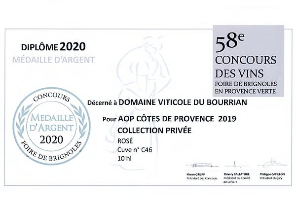 FOIRE DE BRIGNOLES - MEDAILLE D'ARGENT R