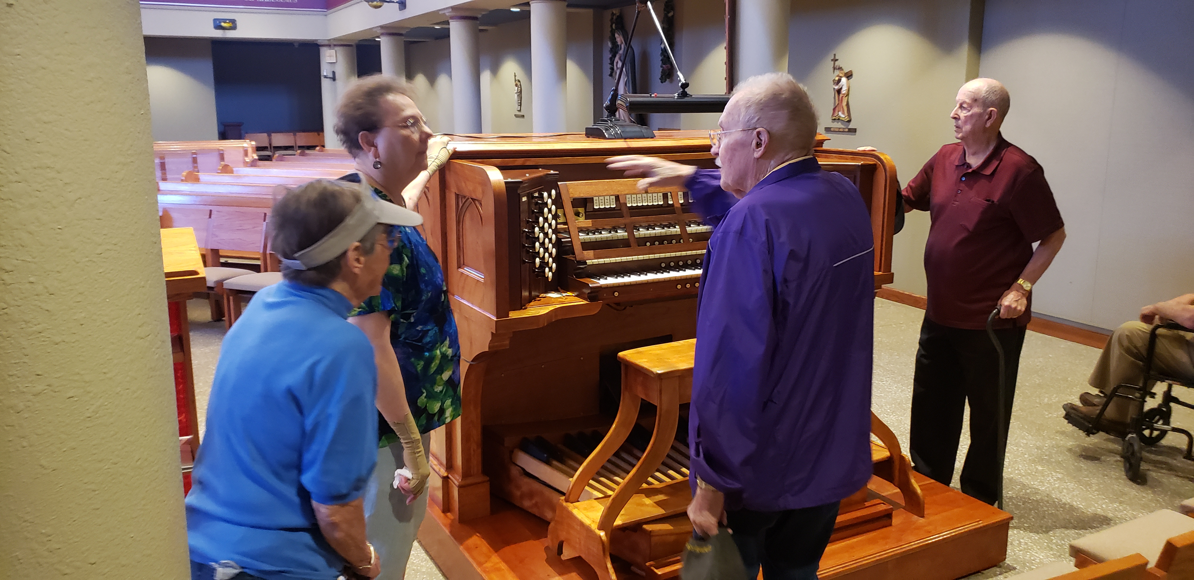 Beautiful organ crafted by our Bob!