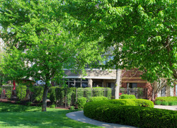 Our beautiful Memory Care courtyard