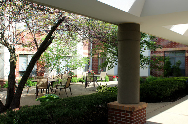 It's great courtyard weather!
