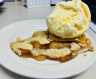 Apple pie a la mode, fresh from our kitchen