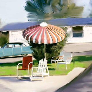 Multicolor Awning=