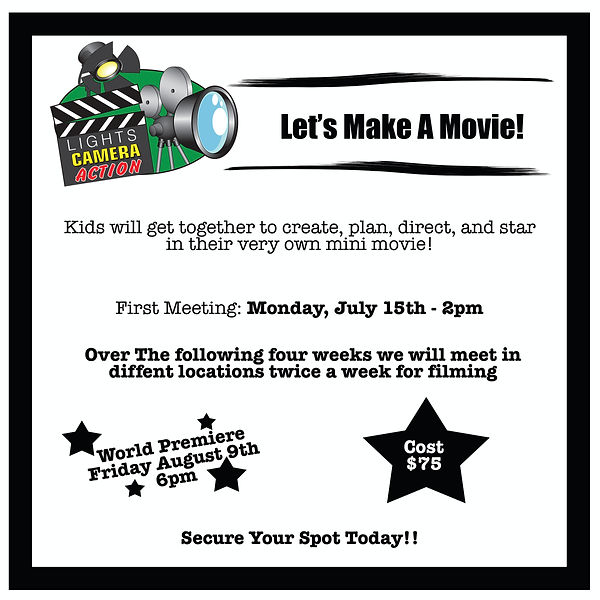 movie making class for kids