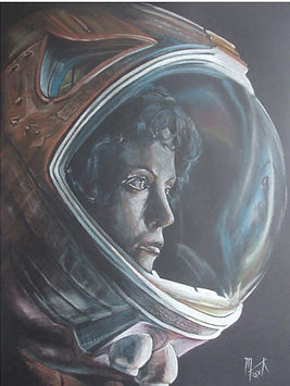 Art,artist,portrait,painting,original,print,acrylic,oils,movie,film,classic,icon,hero,sexy,astronaut,alien,aliens,ripley,scifi,science,fiction,monster,nightmare