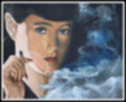 art,artist,portrait, painting, scifi, acrylic, bladerunner,original,artwork, workofart, markfox
