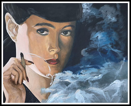 art,artist,portrait, painting, scifi, acrylic, bladerunner,original,artwork, workofart, markfox