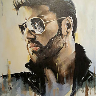Art,artist,portrait,painting,original,print,acrylic,oils,movie,film,classic,icon,hero,singer,george,michael,wham,wakemeup,faith,jesustoachild