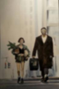 Art,artist,portrait,painting,original,print,acrylic,oils,movie,film,classic,icon,hero,leon,mathilda,jeanreno,