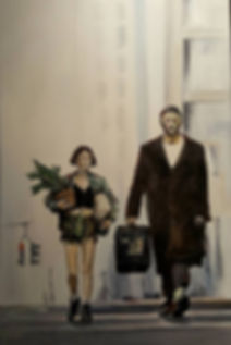 Art, Artist, Leon, Mathilda, Theprofessional, Original, Painting, Workofart