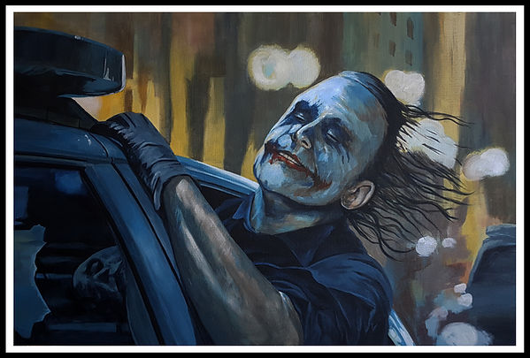 art,artist,portrait,painting,original,prints,acrylic,icon,movie,film,batman,joker,heathledger