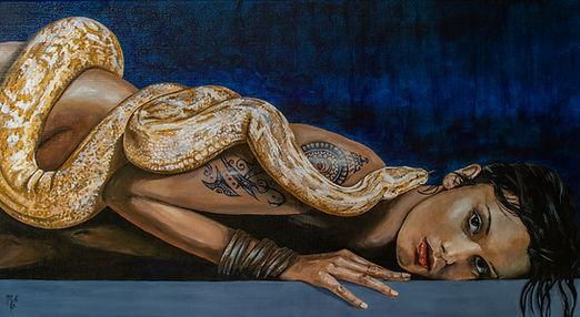 Art,artist,portrait,painting,original,print,acrylic,oils,sexy,tattoo,ink,inkedgirl,tattooed,beauty,seductive,girl,woman,lady,stripper,suggestive,snake