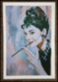 Audrey,hepburn,artprint,classy,icon,painting,tiffanys,breakfast,artist
