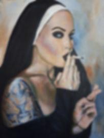 Wicked, Nun, 3, Sexy, Girl, Ink, Tattoo, Tatt, Ink, Inkedgirl, Smoking, Lucky