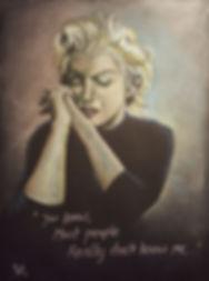 Art,Original,Pastel,Painting,Marilyn,Monroe,Icon,Mark,Fox