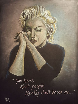 Art,Original,Pastel,Painting,Marilyn,Monroe,Icon,Mark,Fox