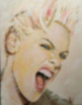 Pink,Art,Painting,Portrait,Mark,Fox