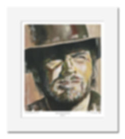 Clint,Eastwood,High,Plains,Cowboy,Original,Art,Print,Mark,Fox