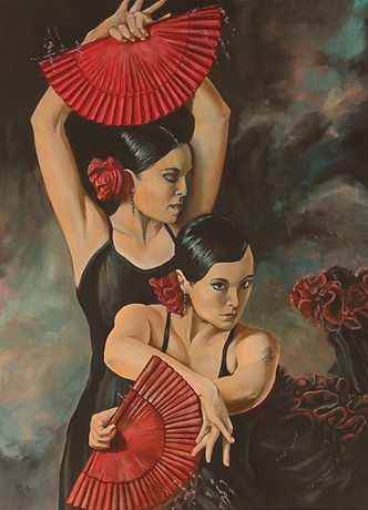 art,artist,portrait,painting,original,sexy,flamenco,spanish,dance,mark fox